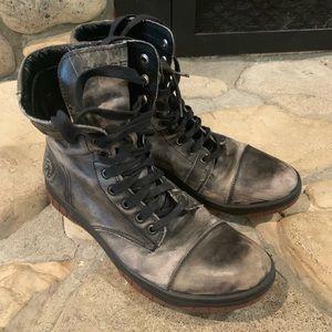 Diesel combat grey high top shoes 10